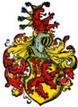 Coat of arms of the House of Habsburg 1 of fire.png